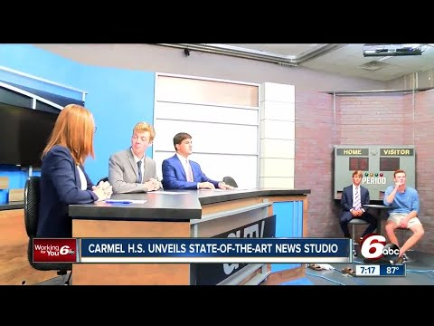 Carmel High School unveils state-of-the-art news studio