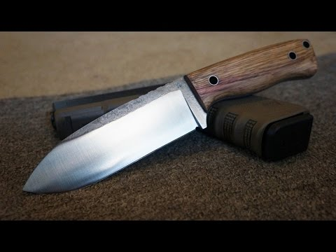Knifemaking: Making a 1084 High carbon steel bush craft knife