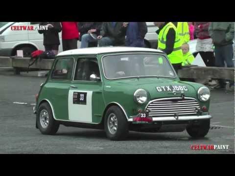 Short Auto Test at Caernarfon Harbour car park,Three Castles Welsh Classic Car trial.