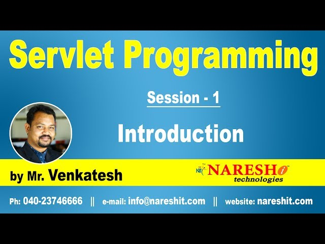 Servlet Tutorial | Introduction to Servlets | Servlet Programming Part-1  | by Mr.Venkatesh