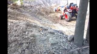 Digging a pond with a Compact Tractor - Kioti CK20s