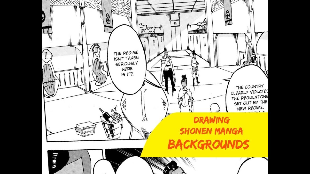 How to draw manga backgrounds shonen ep 1