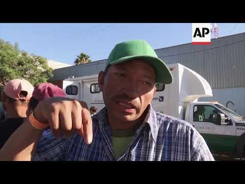 Tension at migrant caravan camp after Mexico border clash
