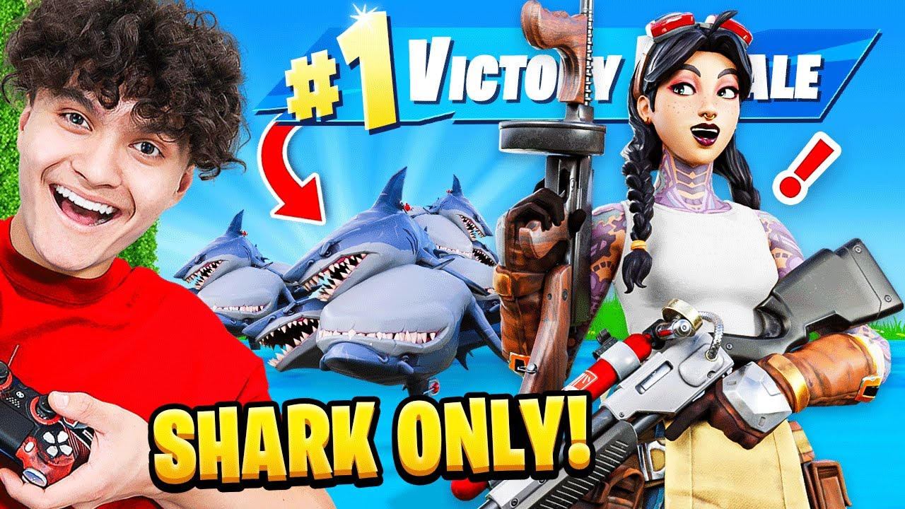 Winning with ONLY SHARK LOOT in Fortnite