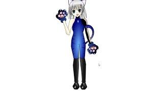 Как нарисовать аниме кошку, How to draw Icecat anime girl