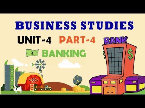 BANKING|UNIT-4 PART-4 BUSINESS SERVICES|BUSINESS STUDIES CBSE