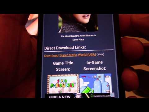 How To Download Emulators And Roms Onto Your Mobile Android Phone/Tablet