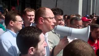 Виступ Яценюка і Тягнибока, 04.07.2012