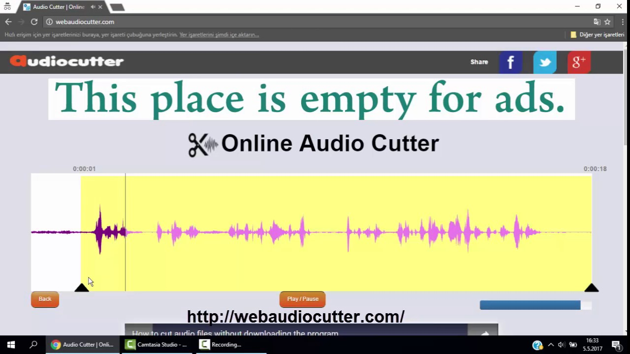 Audio Cutter | Online mp3 and audio files trimmer