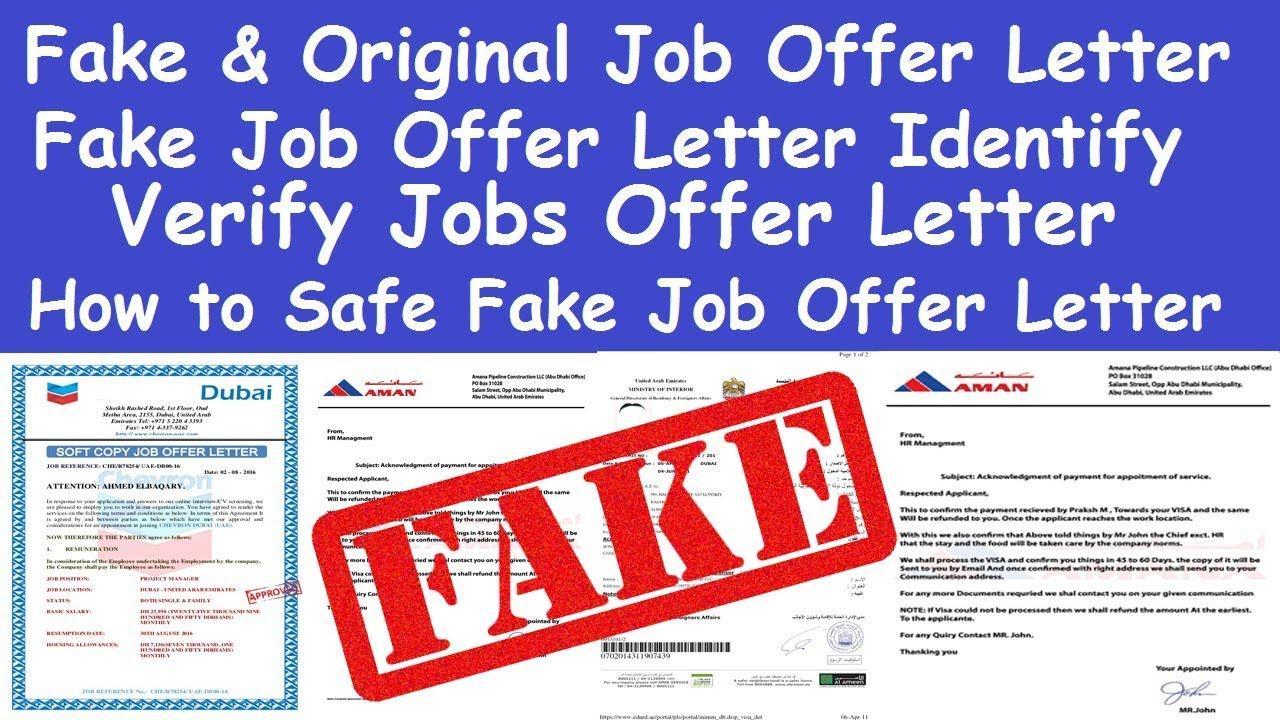 GULF ABROAD FAKE JOB OFFER LETTER IDENTIFY l VERIFY JOBS OFFER LETTER l JOB  OFFER LETTER FAKE