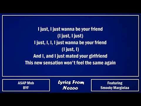 A$AP Mob - BYF (Lyrics) Ft. A$AP Rocky, A$AP Ant & Smooky Margielaa