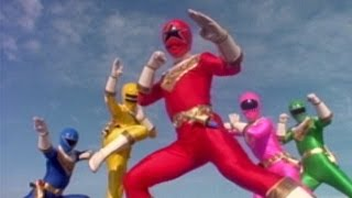 Power Rangers Zeo - First Morph and Fight (Power Rangers vs Cogs)