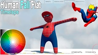 - Human Fall Flat TIMELAPS art Spiderman