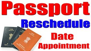 How To Reschedule Passport Appointment