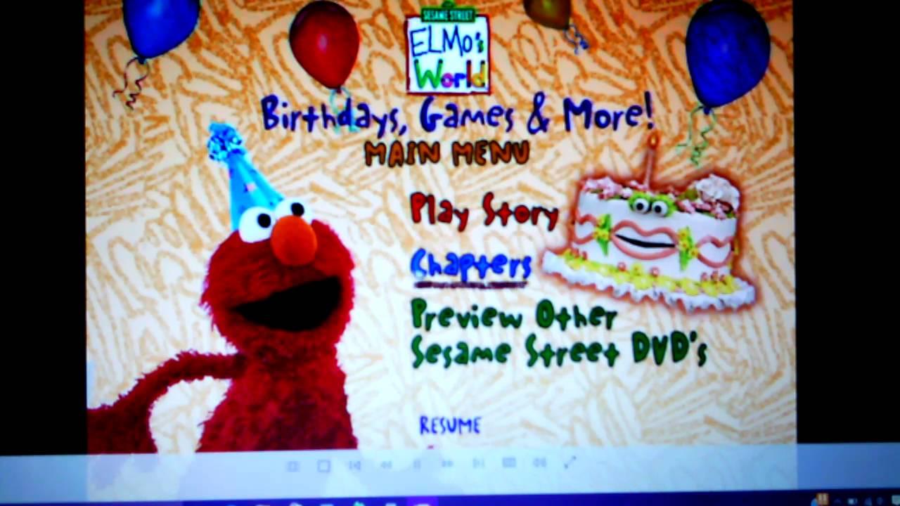 Elmo S World Birthdays Games More Menu Fail Youtube