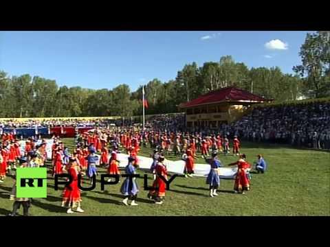 Russia: Watch Putin celebrate Tuva's 100th accession anniversary