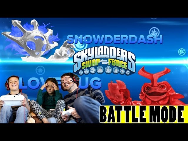 Snowderdash & Love Bug Battle Mode w/ Lex Mike & Dad (Skylanders Swap Force Variants) PVP Arenas Travel Video