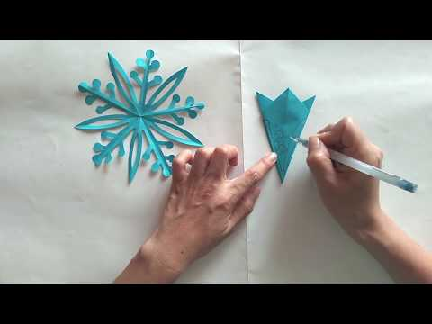 Super easy paper cutting:snowflake