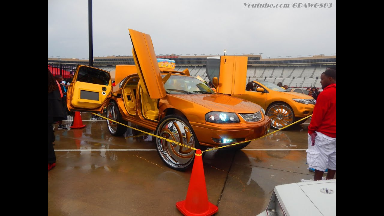 Candy Gold Nissan Murano And Chevy Impala On 32s At