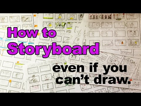 How to storyboard even if you can't draw.