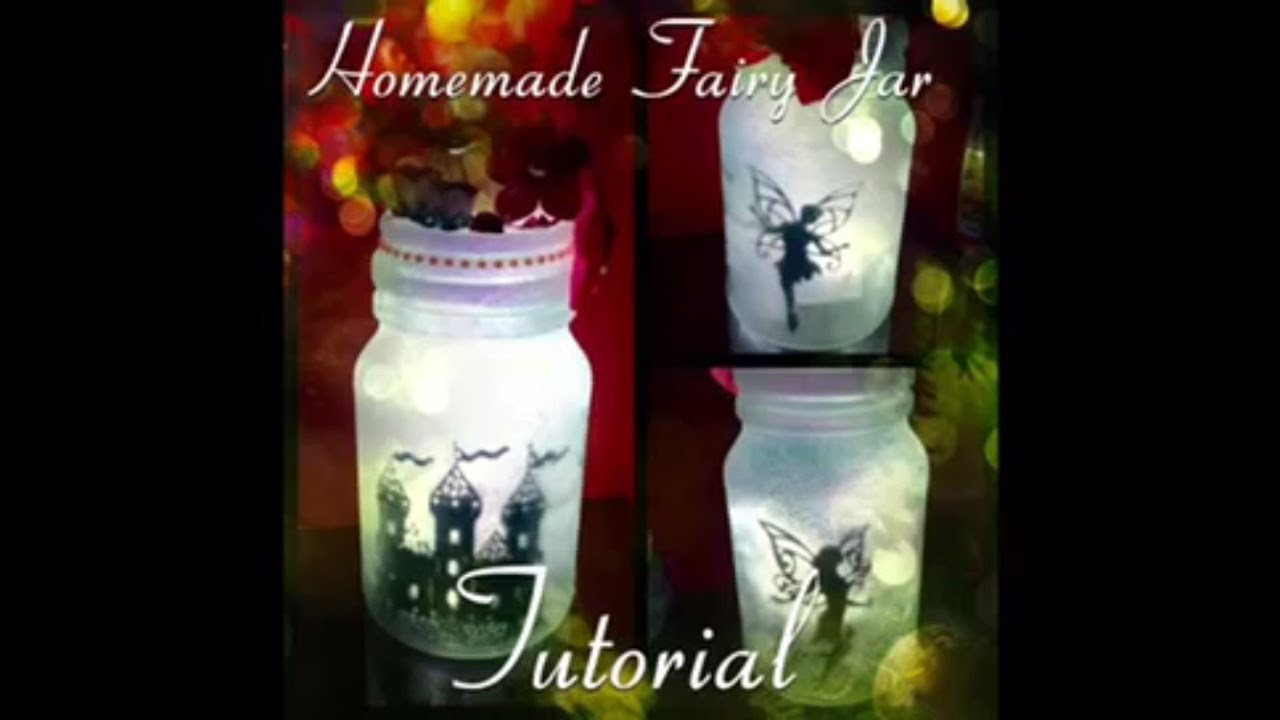 Diy fairy lantern glow jar lamp no tissue version youtube for Homemade lantern lights