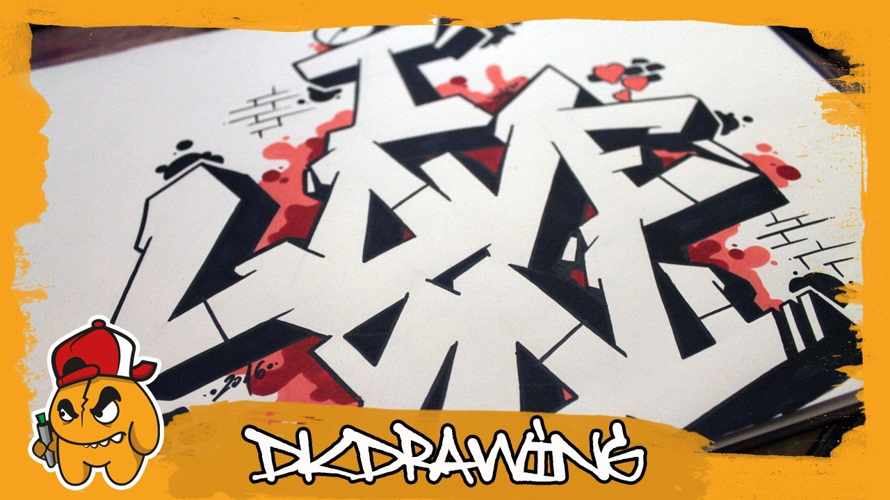 How To Draw Graffiti Letters I Love You Step By Step