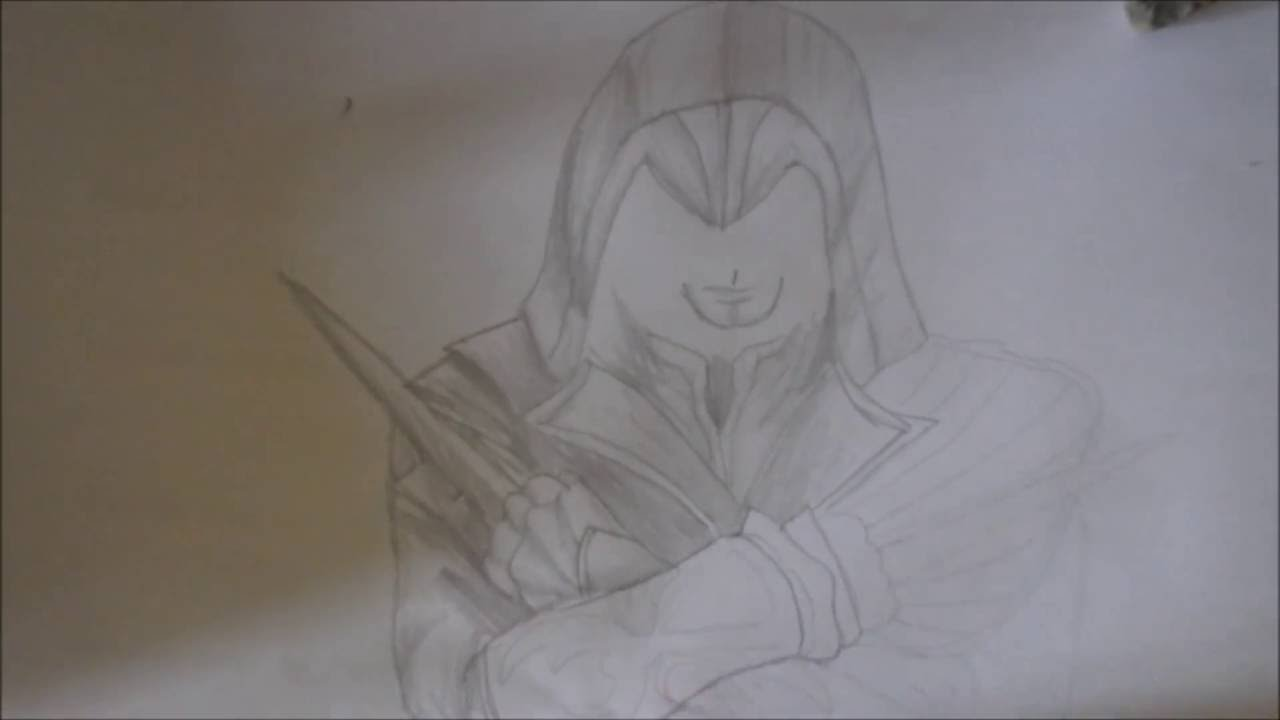 Comment Dessiner Un Personnage D Assassin Creed Youtube