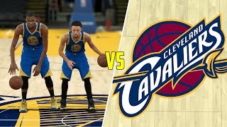 CAN KEVIN DURANT AND STEPHEN CURRY BEAT THE CAVALIERS ALONE? NBA 2K17 GAMEPLAY!