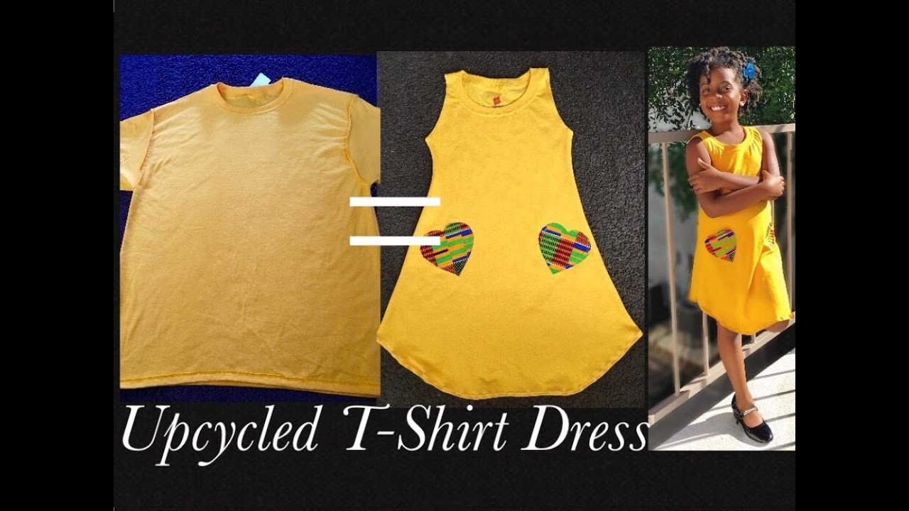 How To Make A Girls Dress From Mens Tee Youtube
