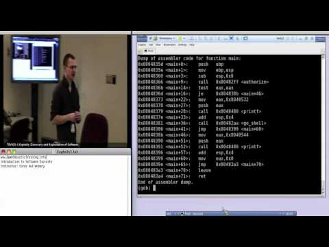 Day 1 Part 1: Exploits1: Introduction to Software Exploits