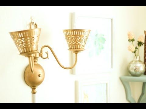 Change Plug To Hard Wire: Change Wall Sconce to Plug-In Lamp - YouTuberh:youtube.com,Design
