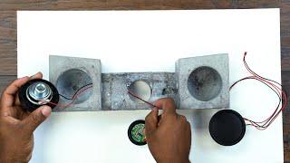 DIY Concrete Bluetooth speaker