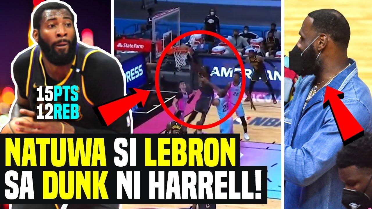 LeBron James NAPATAYO sa Dunk ni Harrell kay Iguodala! Drummond NANGALABAW na! Lakers vs Heat