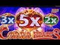 ★NEW ! COBRA HEARTS☆$125 Free Play Live/ Cobra Hearts Slot (Konami) Viewer's Suggestion !☆栗スロ