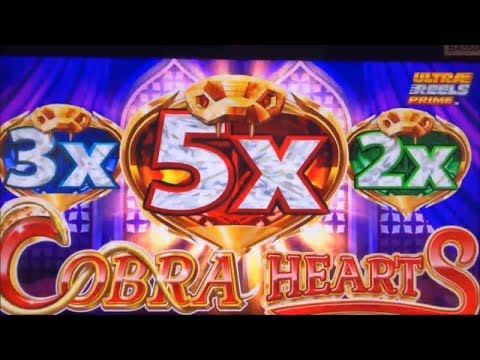 ★NEW ! COBRA HEARTS☆$125 Free Play Live/ Cobra Hearts Slot (Konami) Viewer's Suggestion !☆栗スロ