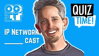 🔴Broadcast, Unicast, Multicast, & Anycast (oh my❗) | CCNA prep Quiz