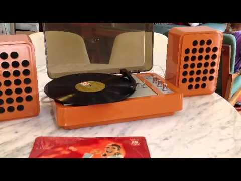 4 speed lp record player for sale hip retro groovy youtube. Black Bedroom Furniture Sets. Home Design Ideas