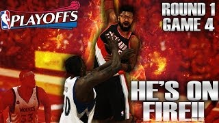 NBA 2K14 PS4 MyCAREER ~ NBA Playoffs R1G4 - He