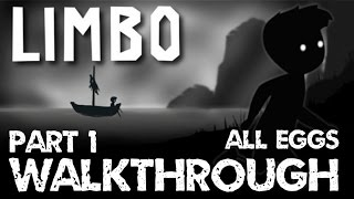 LIMBO PS4 WALKTHROUGH part 1 ALL eggs ALL hidden stage no commentary [ cz/sk ]