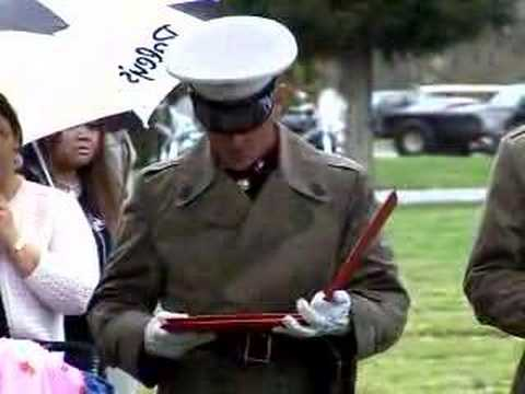Funeral for Marine Lance Cpl. Bunny Long in California