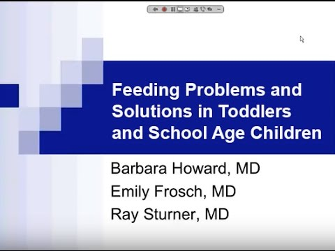 Feeding problems and solutions in toddlers and school age children