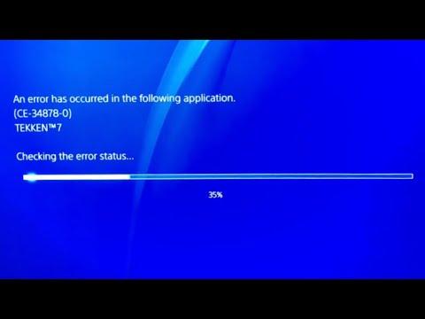 PS4 Error CE-34878-0