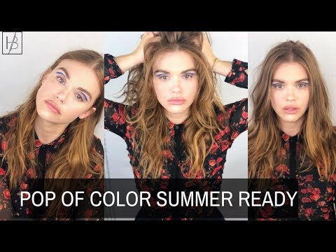 POP OF COLOR  SUMMER Ready  Blue Liner Makeup Look Holland Roden