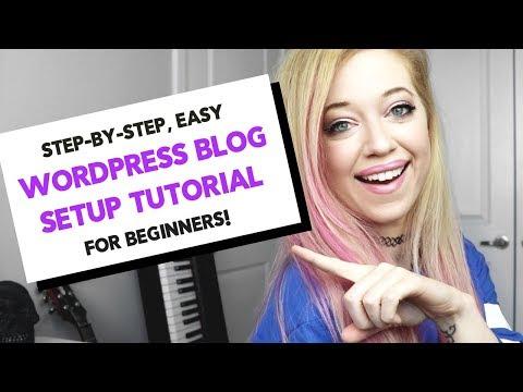 How to Start a WORDPRESS BLOG 2018 | STEP BY STEP, BEGINNER Bluehost WordPress tutorial!