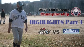 ROUTE 66 VS PHILLIES SBL 2020 Fall Season Championship Highlights Part 1. Nov. 21, 2020