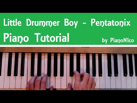 Little Drummer Boy - Christmas Song | Piano Tutorial | How To Play | HD