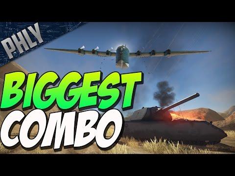 BIGGEST COMBO! MAUS & BV-238 (War Thunder Tanks Gameplay)