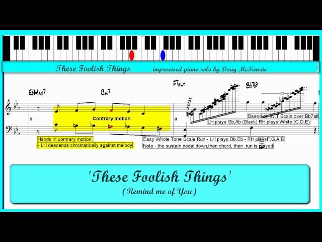 These Foolish Things - Jazz piano tutorial