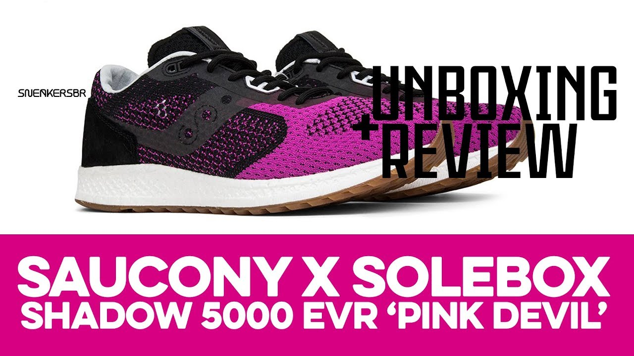 436eaa229d0b6 UNBOXING+REVIEW - Saucony Shadow 5000 EVR x Solebox  Pink Devil ...