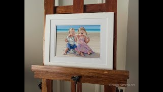 Timelapse: Our day at Windy Island, portrait by Helen Komene Art